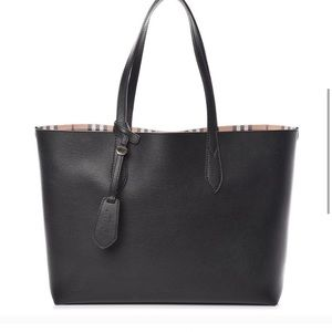 Burberry Haymarket Check Leather Reversible Tote
